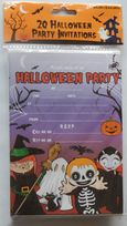 Purple Halloween Party Invitations  (20)